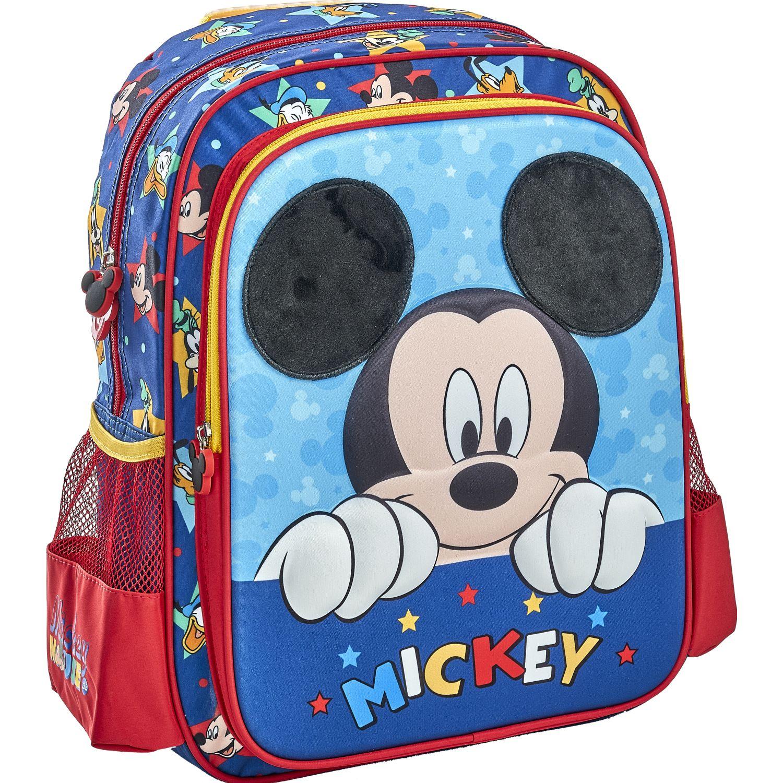Mickey 20 SCOOL P MICKEY MOCH PELUCHE 2BOL Azul / rojo mochilas