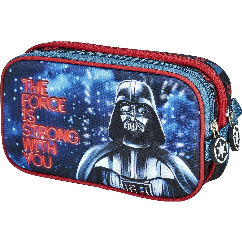 Cars 20 Scool Star Wars Cart Eva 3d D/Cierr Rojo / azul Portalápices