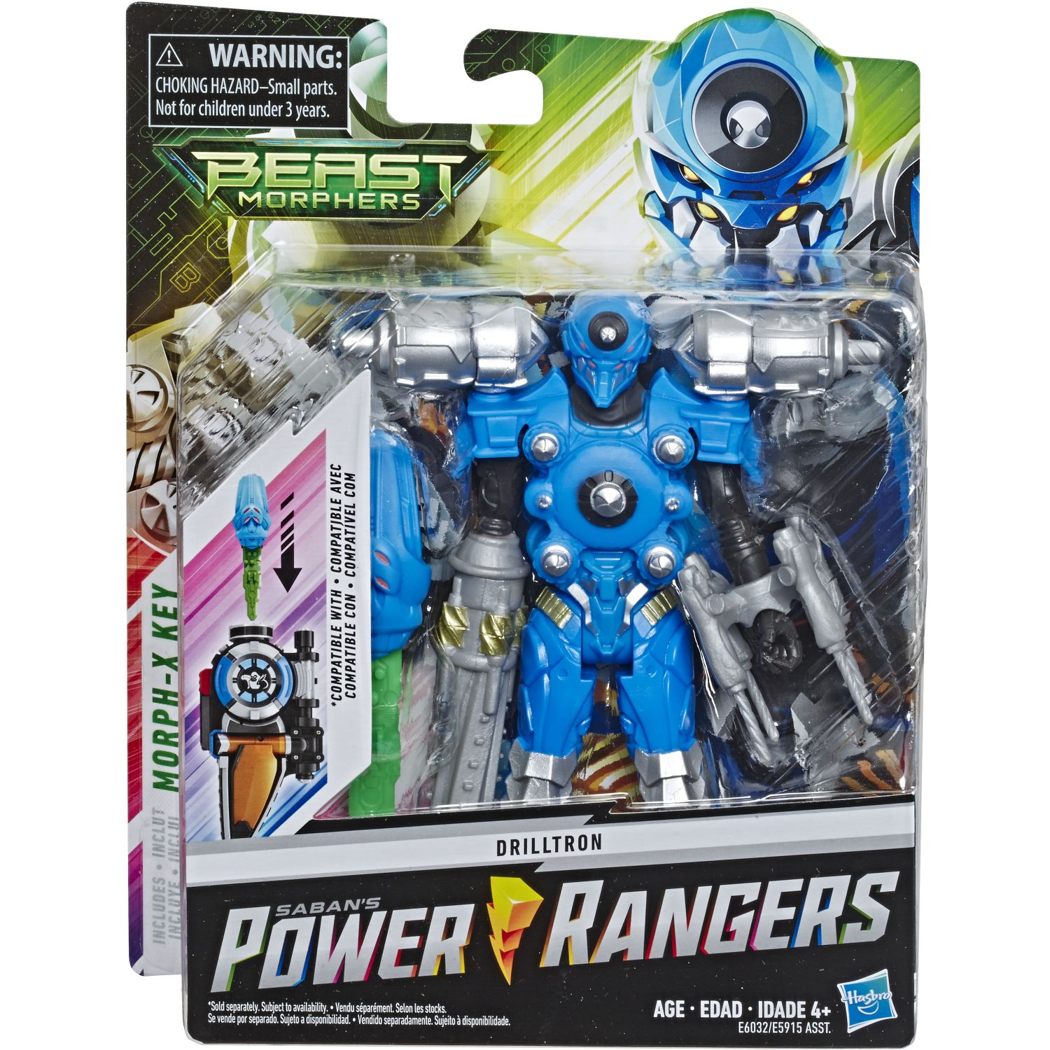 POWER RANGERS PRG 6IN BMR DRILLTRON FIGURE Varios Figuras de Acción