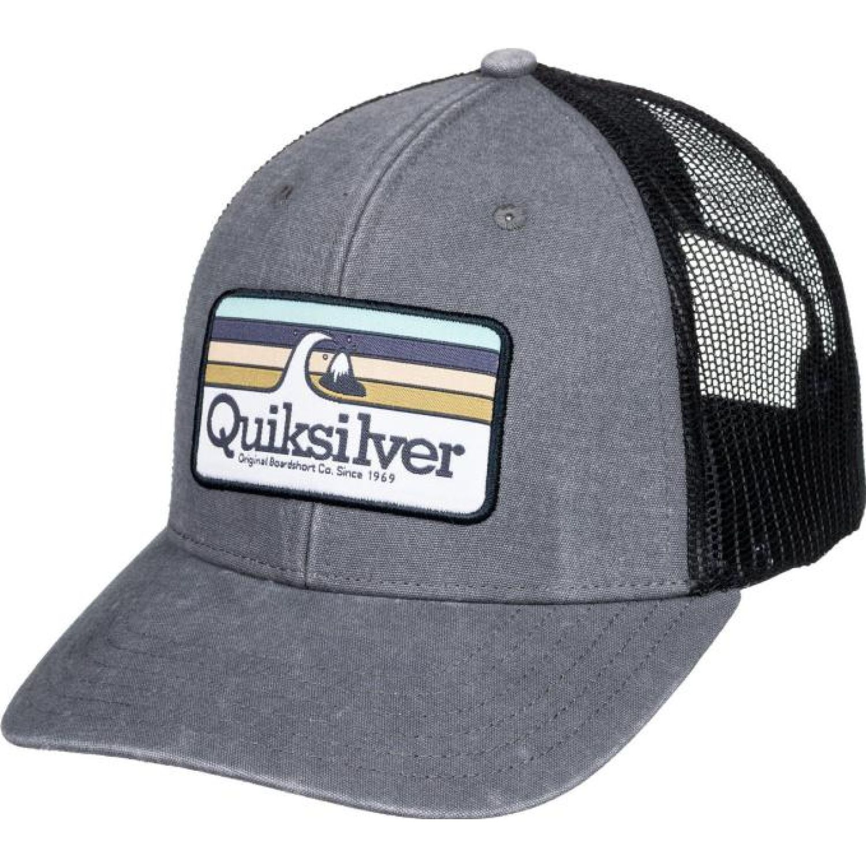 Quiksilver clean lines Gris / negro Gorros de Baseball