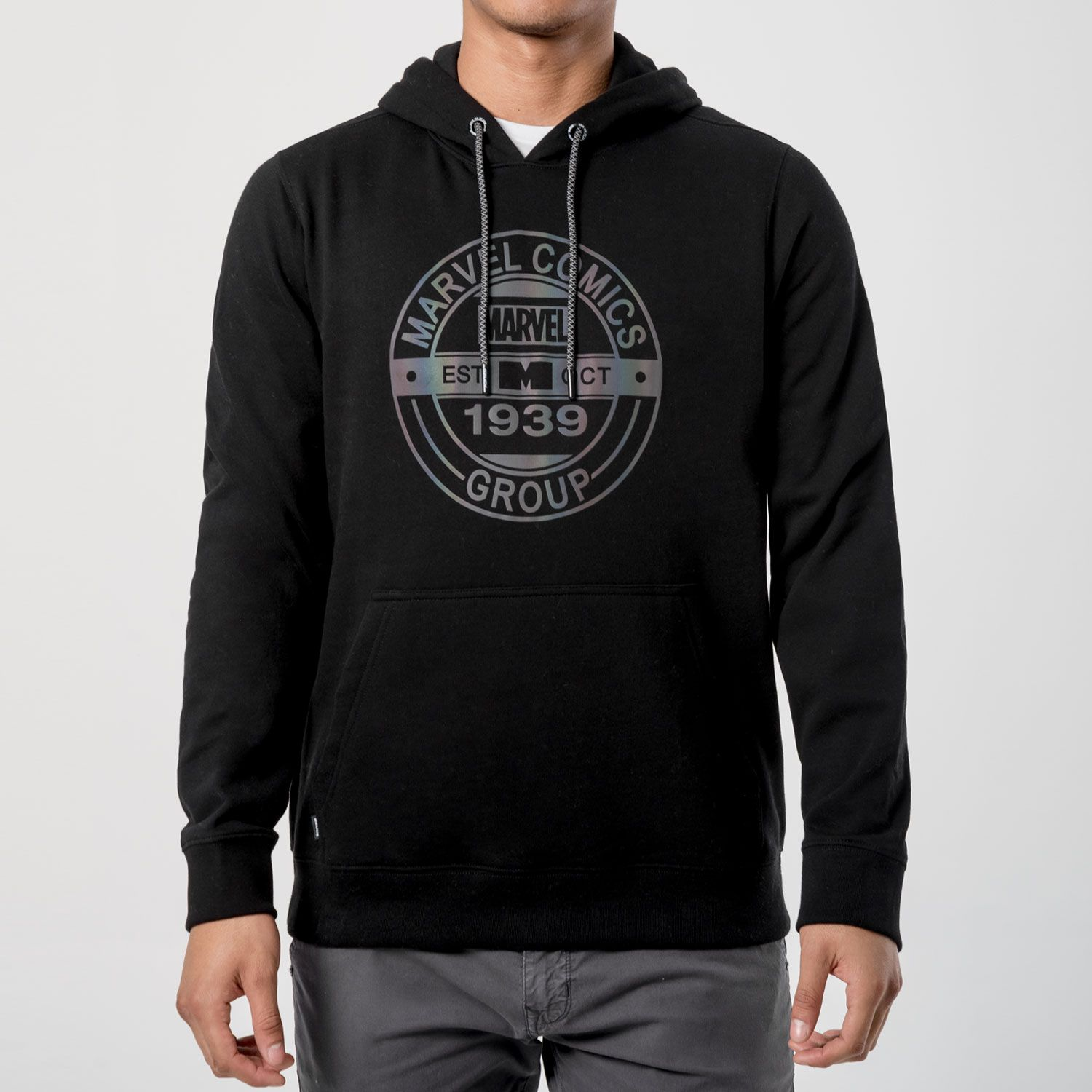 GZUCK marvel 80 Negro Hoodies y Sweaters Fashion