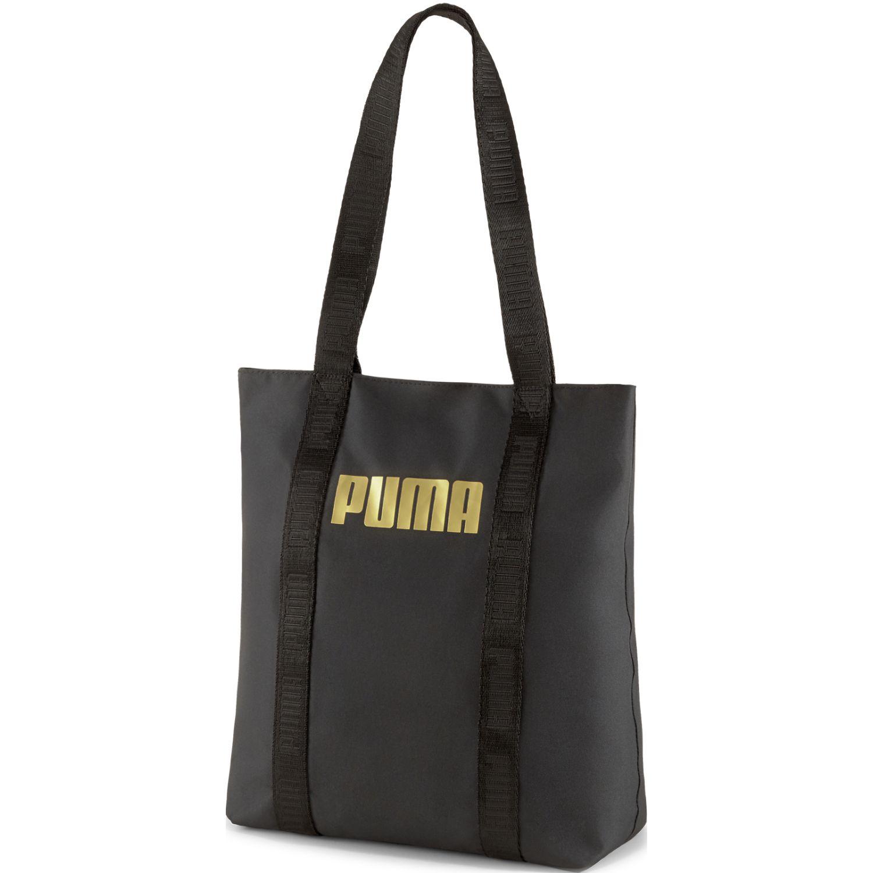 Puma wmn core base shopper Negro bolsos de lazo