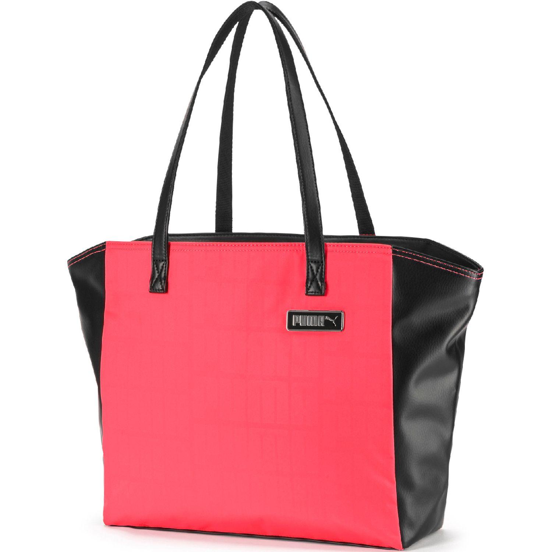 Puma Prime Classics Large Shopper Fucsia / negro bolsos de lazo