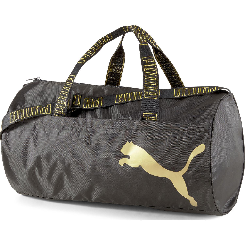 Puma AT ESS barrel bag Plomo / Dorado Duffels deportivos