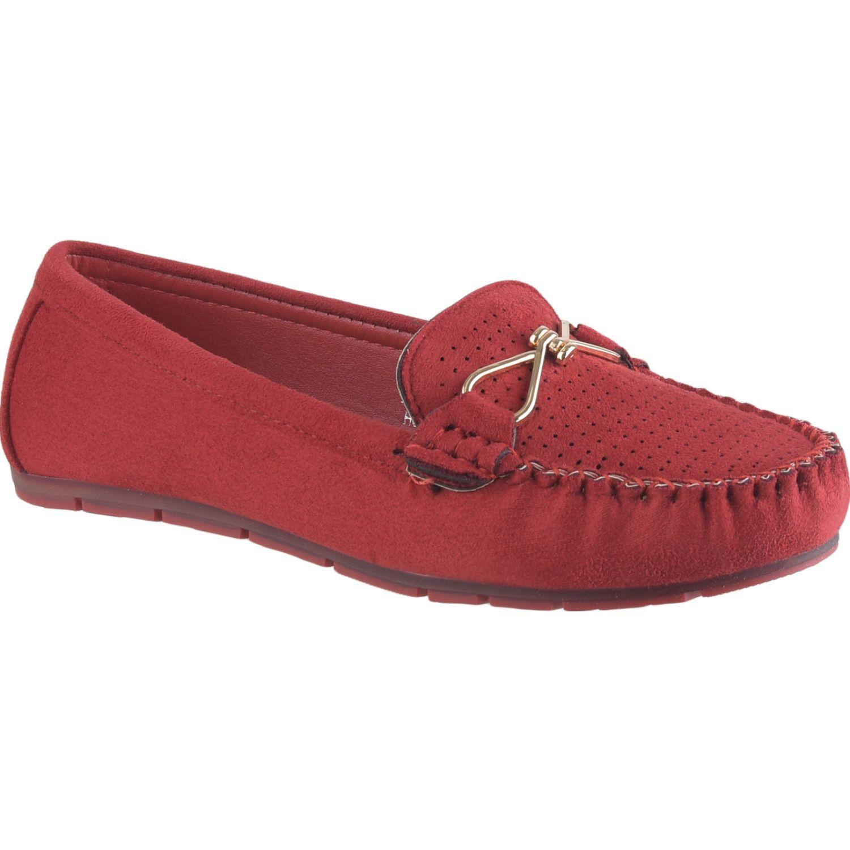 Platanitos M 0339 Rojo Mocasines y Slip-Ons