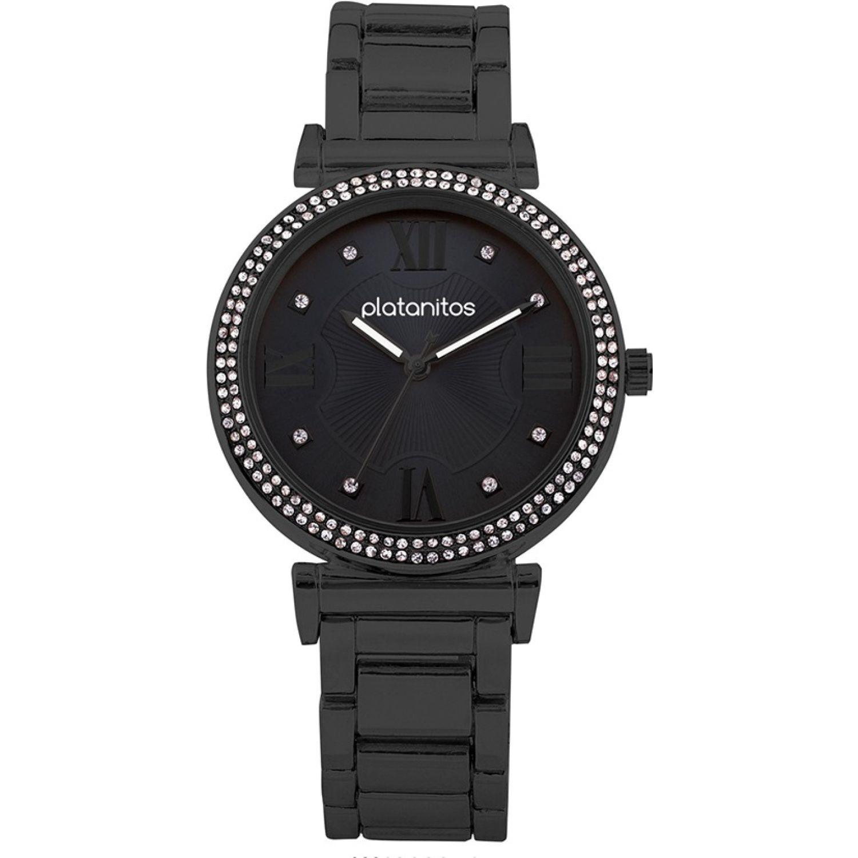 Platanitos W40202 Negro Relojes de pulsera