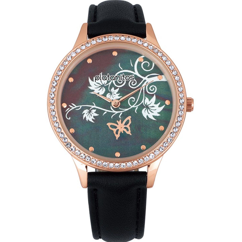 Platanitos W40485 Negro Relojes de pulsera