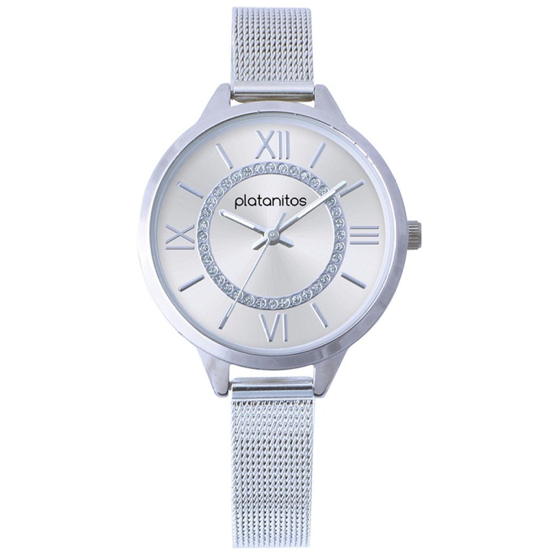 Platanitos W40329 Plateado Relojes de pulsera