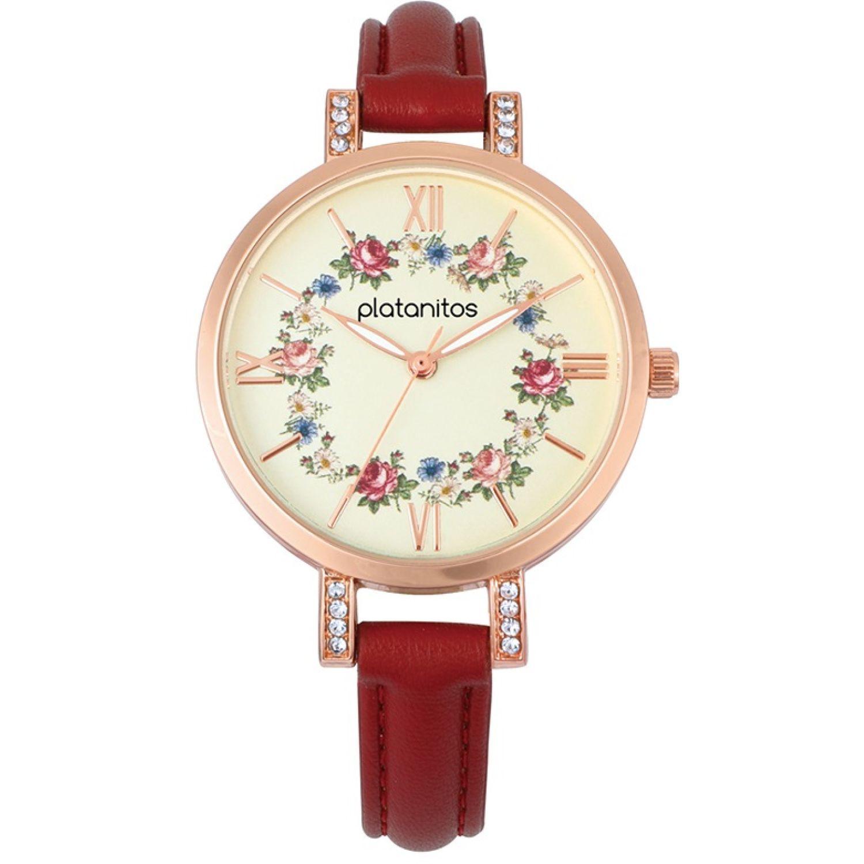 Platanitos W40286 Rojo Relojes de pulsera