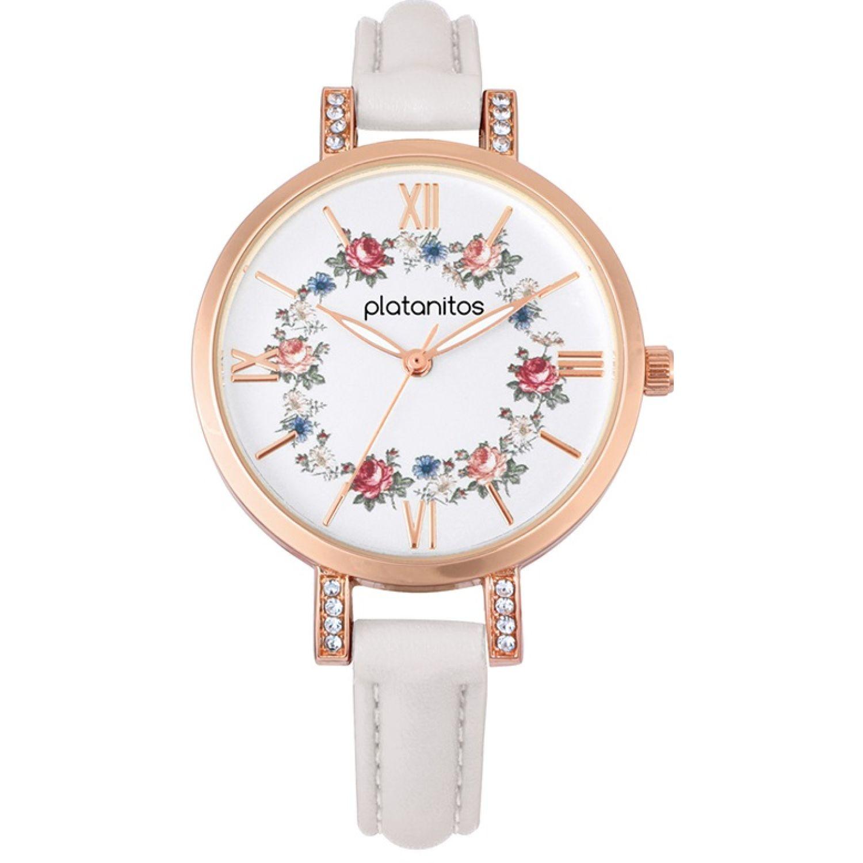 Platanitos W40286 Blanco Relojes de pulsera
