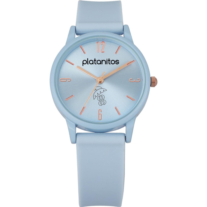 Platanitos Reloj Dama W40541 Celeste Relojes de pulsera