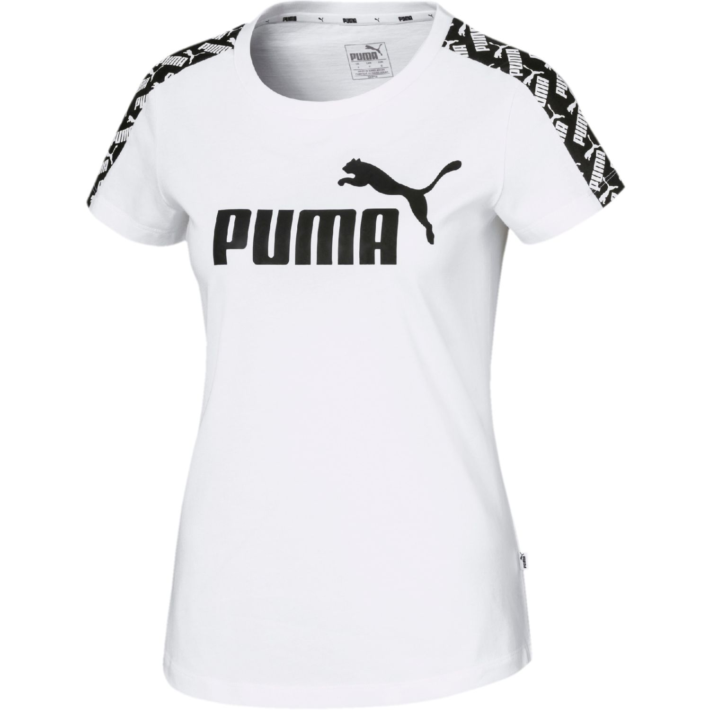 Puma amplified tee Blanco / negro Polos