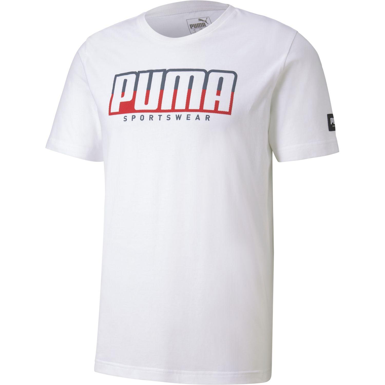 Puma Athletics Tee Big Logo Blanco Camisetas y polos deportivos