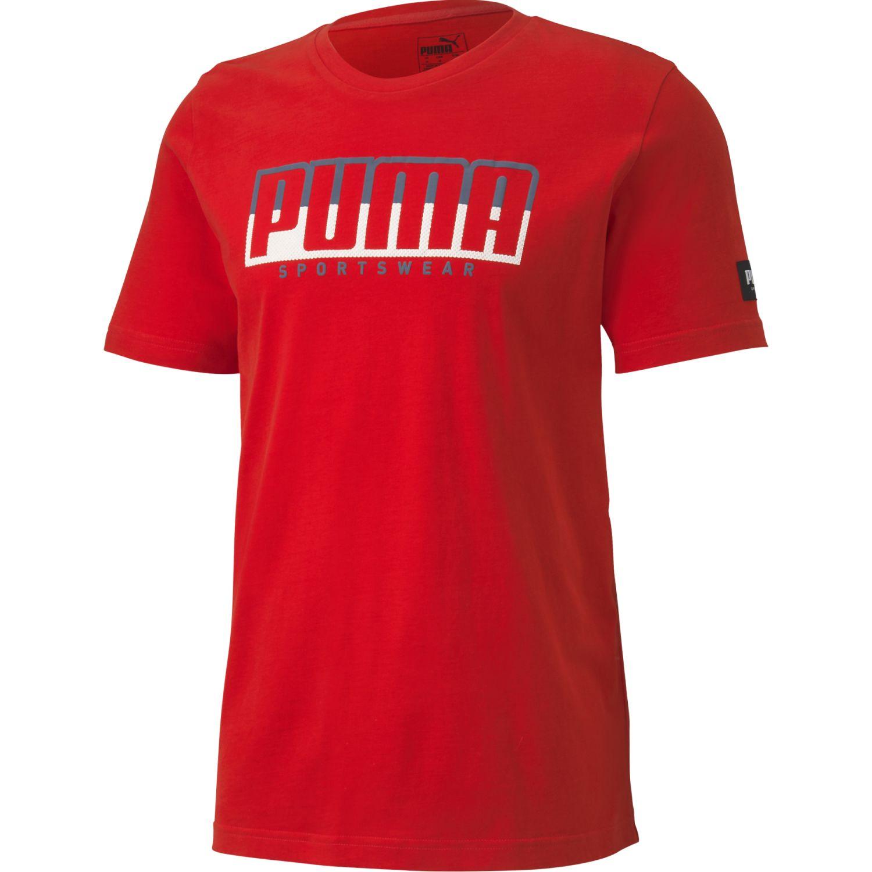 Puma Athletics Tee Big Logo Rojo Camisetas y polos deportivos