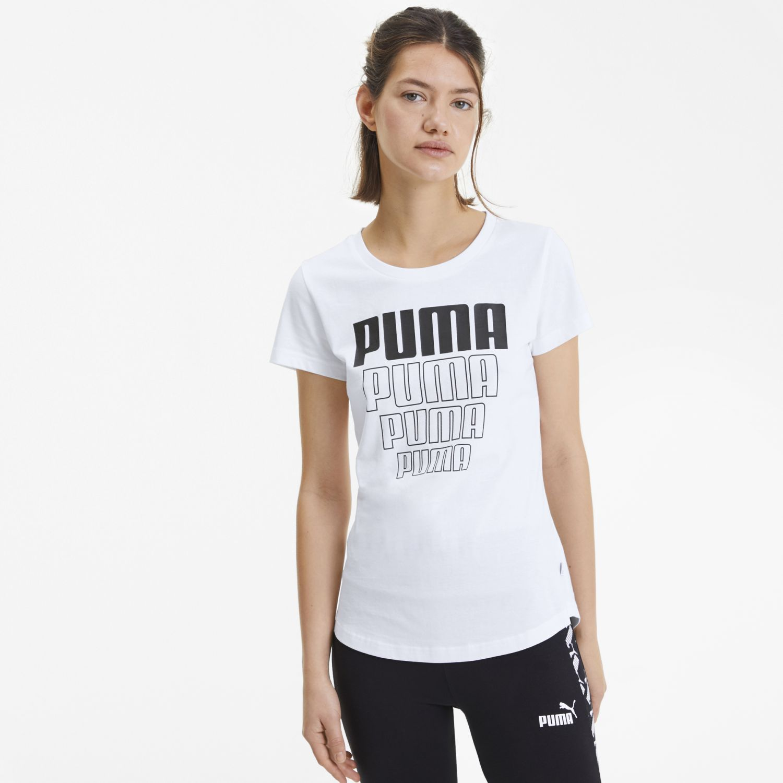 Puma rebel graphic tee Blanco / negro Polos