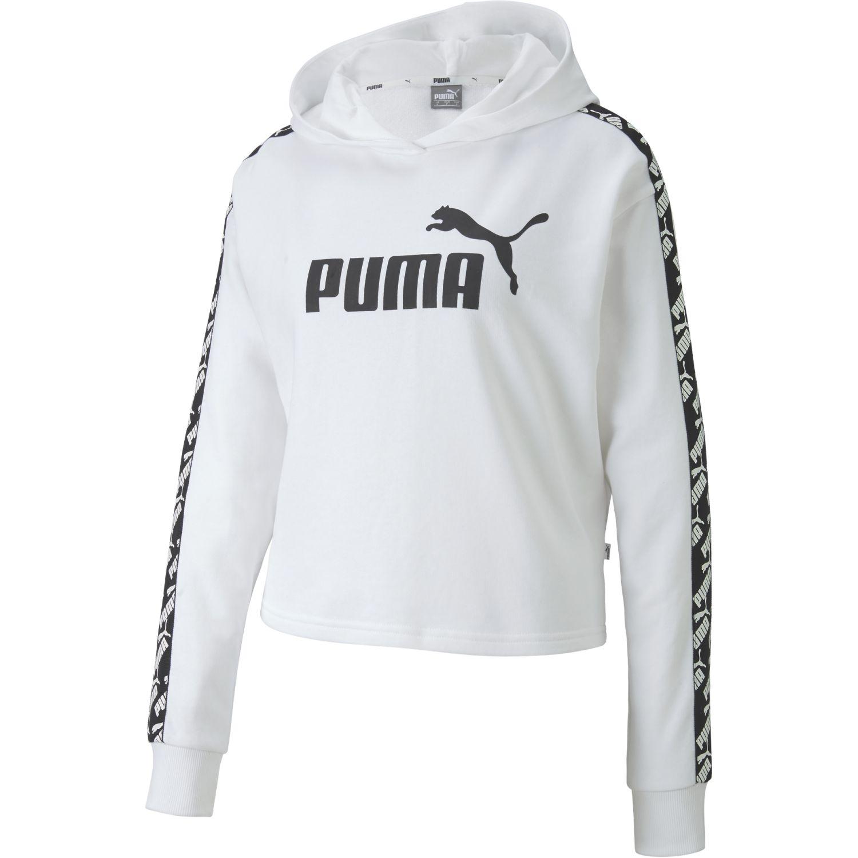Puma amplified cropped hoody tr Blanco / negro Hoodies Deportivos