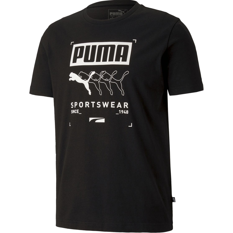 Puma Box Puma Tee Negro Camisetas y Polos Deportivos