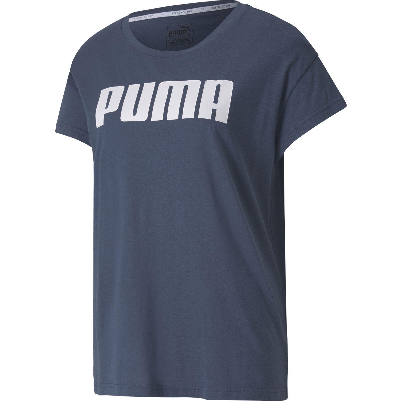 Puma Active Logo Tee Navy Polos