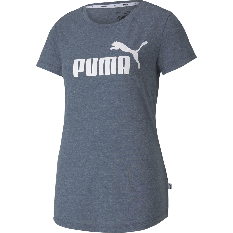 Puma Ess+ Logo Heather Tee Celeste Polos