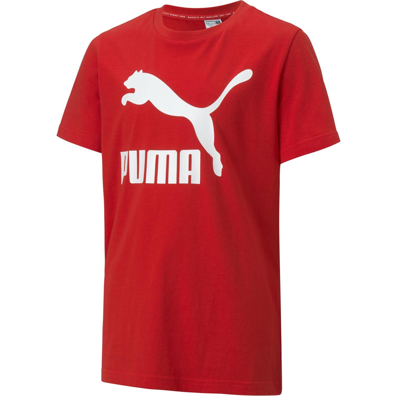 Puma classics logo tee b Rojo / blanco Camisetas y Polos Deportivos