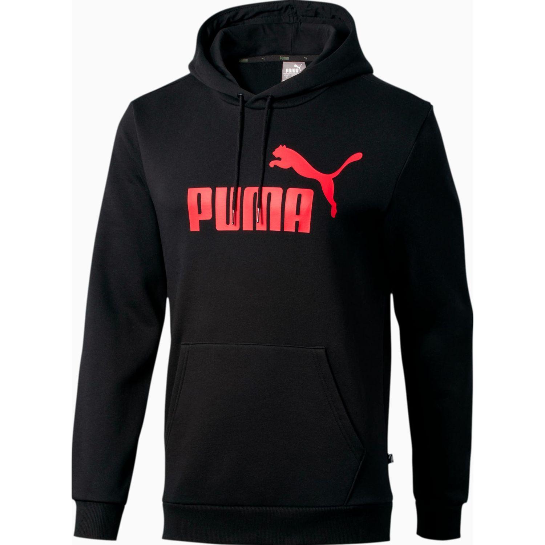 Puma ess hoody fl big logo Negro Hoodies Deportivos