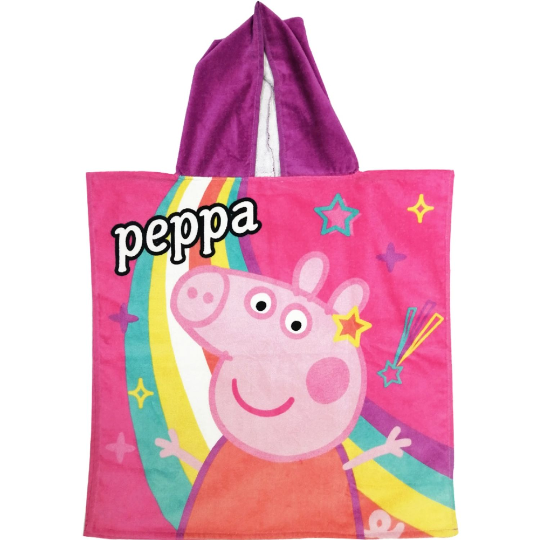 Peppa Pig toalla poncho 300 gr maravillosa 60 x 60 cm Rosado Batas