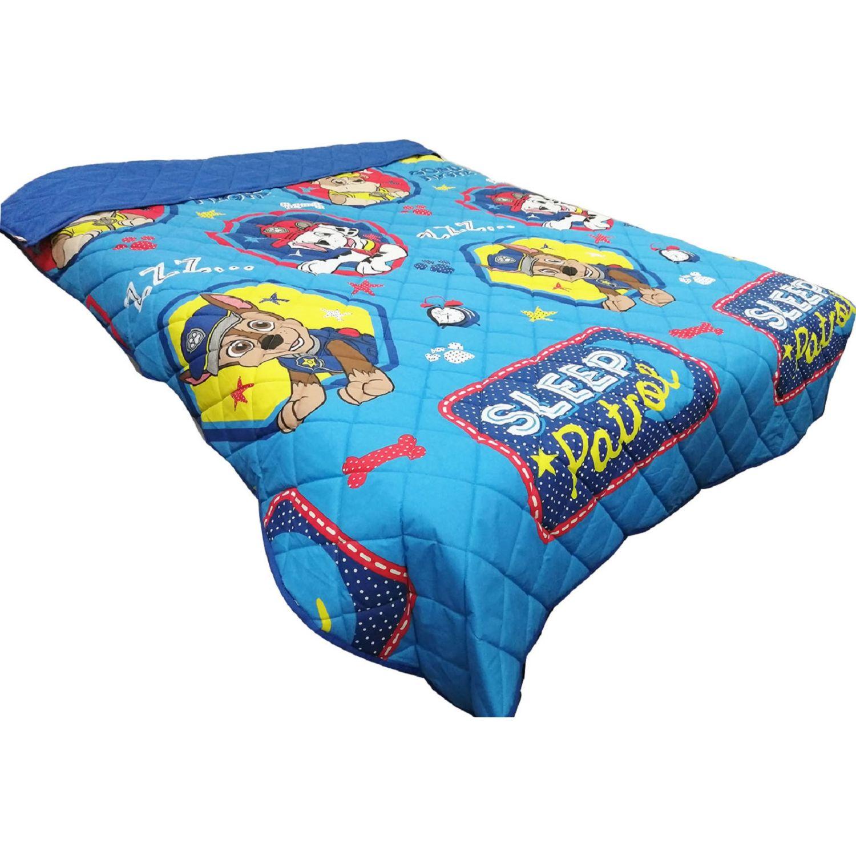Paw Patrol quilt 1.5 plz bed time Celeste / amarillo edredones