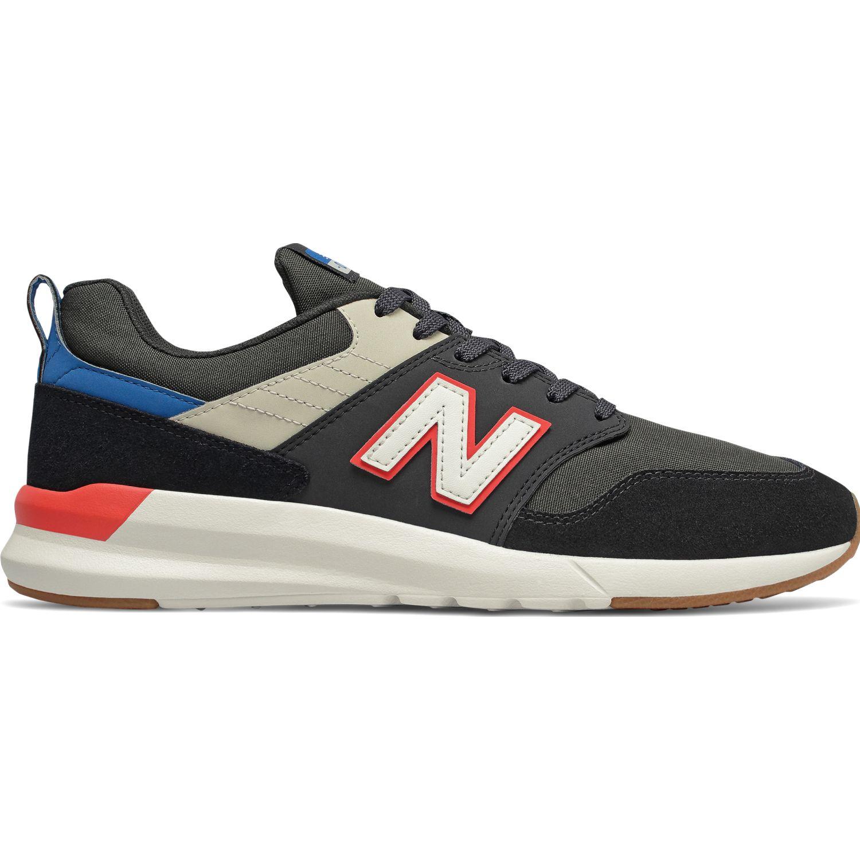 New Balance 009 Negro / naranja Walking