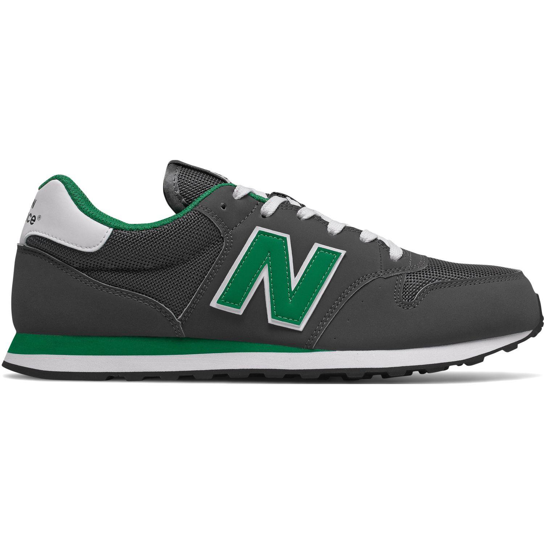 New Balance 500 Plomo / verde Walking