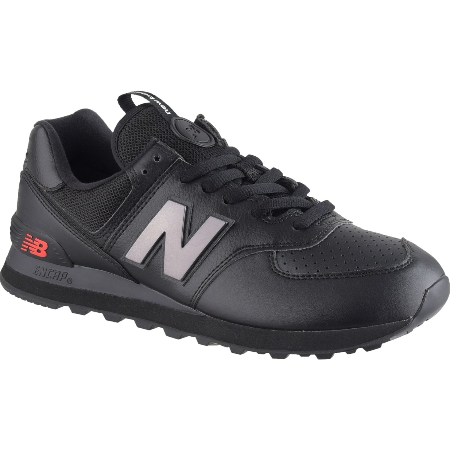 New Balance 574 Negro / rojo Walking