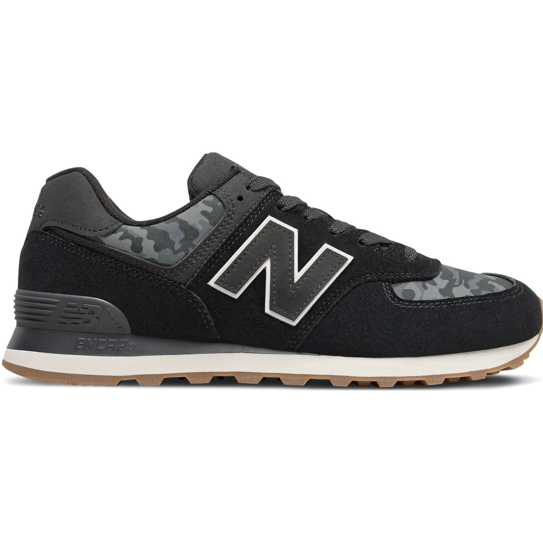 New Balance 574 Negro / plomo Walking
