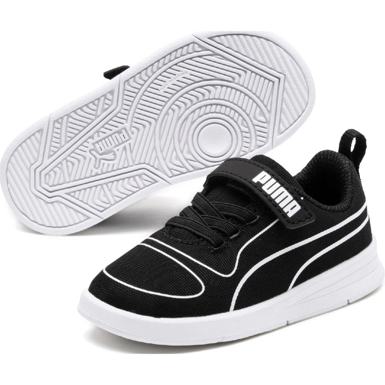 Puma kali v inf Negro / blanco Walking
