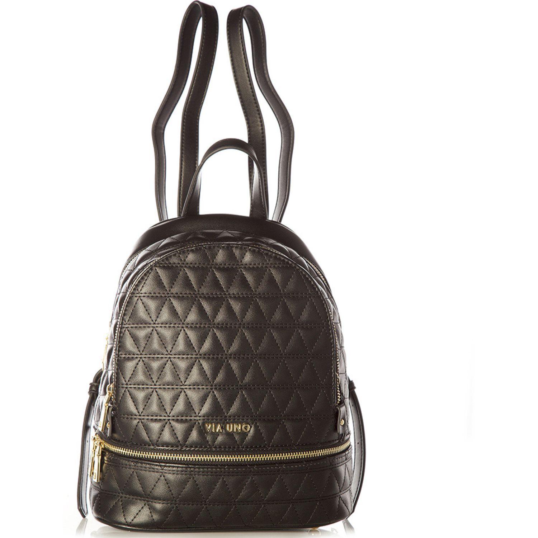VIA UNO 11911025 Black mochilas