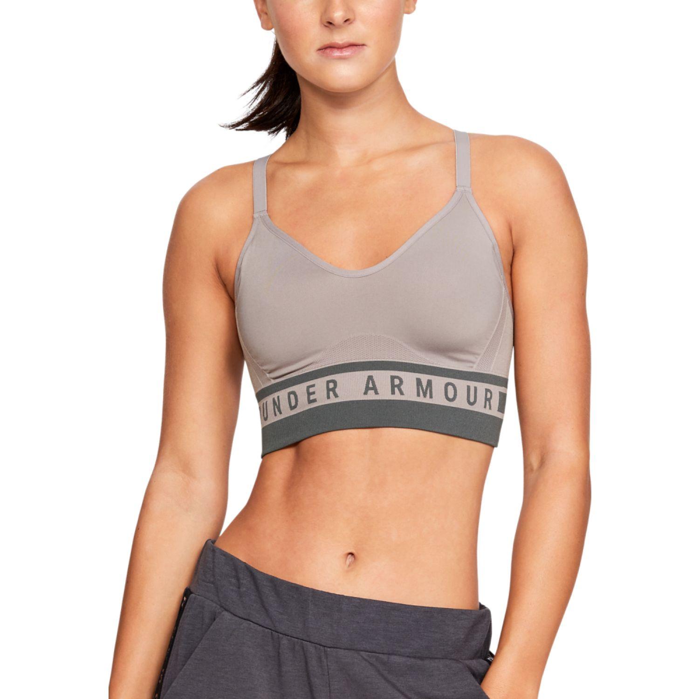Under Armour seamless longline bra Gris Camisetas y Polos Deportivos