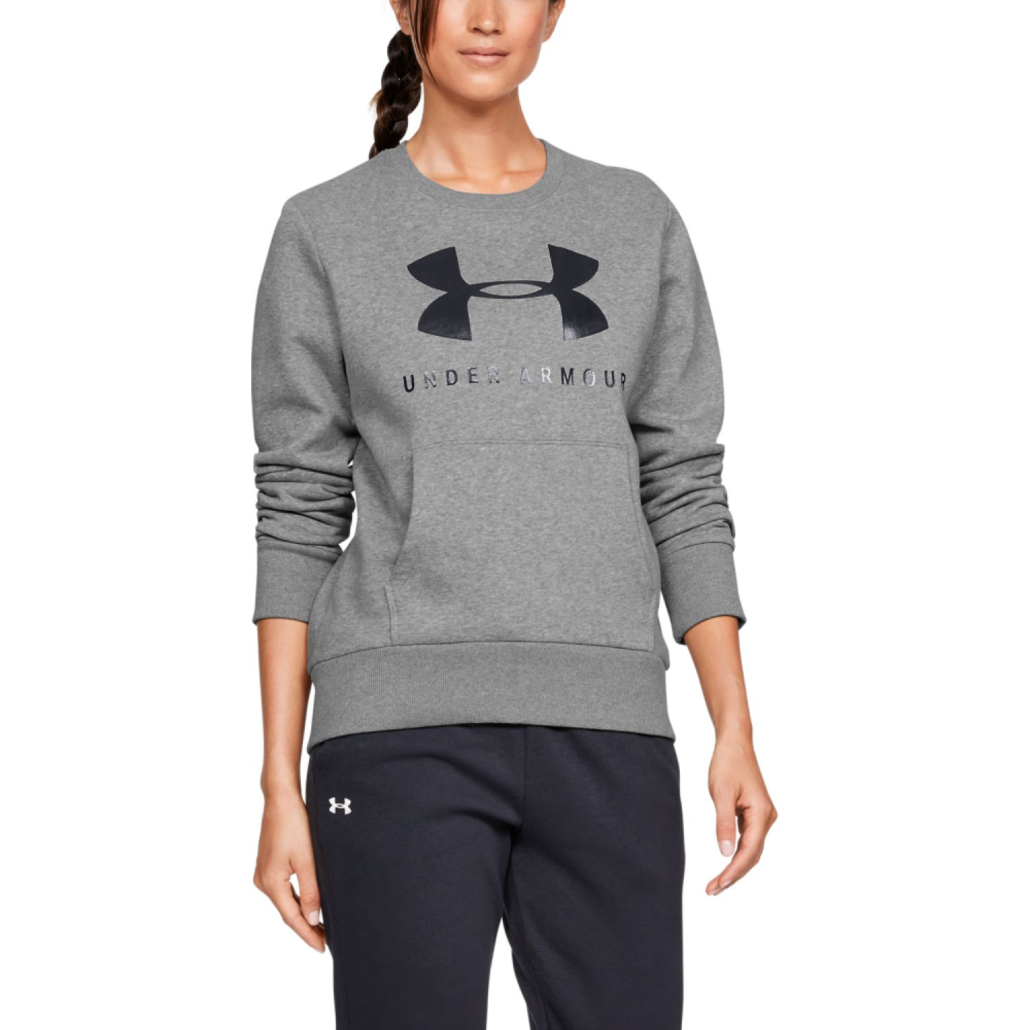 Under Armour 12.1 rival fleece sportstyle graphic crew Gris Hoodies Deportivos