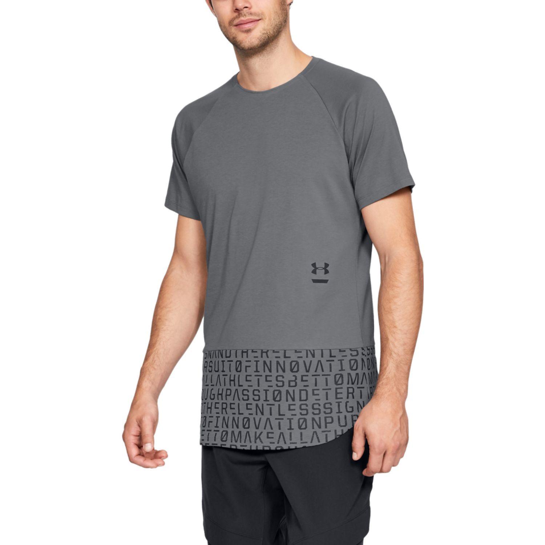 Under Armour Perpetual Graphic Ss-Gry Plomo Camisetas y polos deportivos