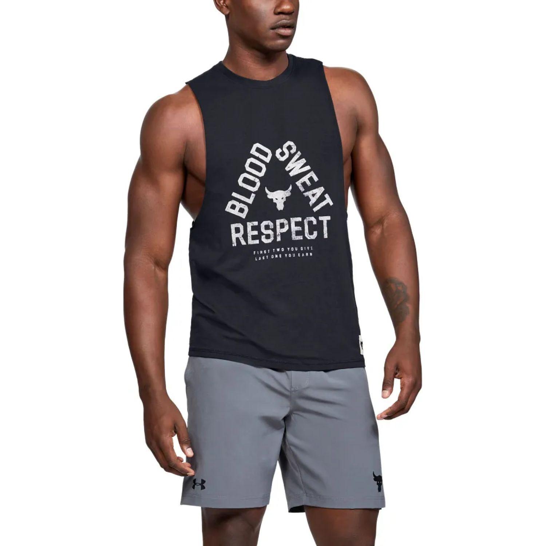 Under Armour project rock blood sweat respect tank Negro Camisetas y Polos Deportivos