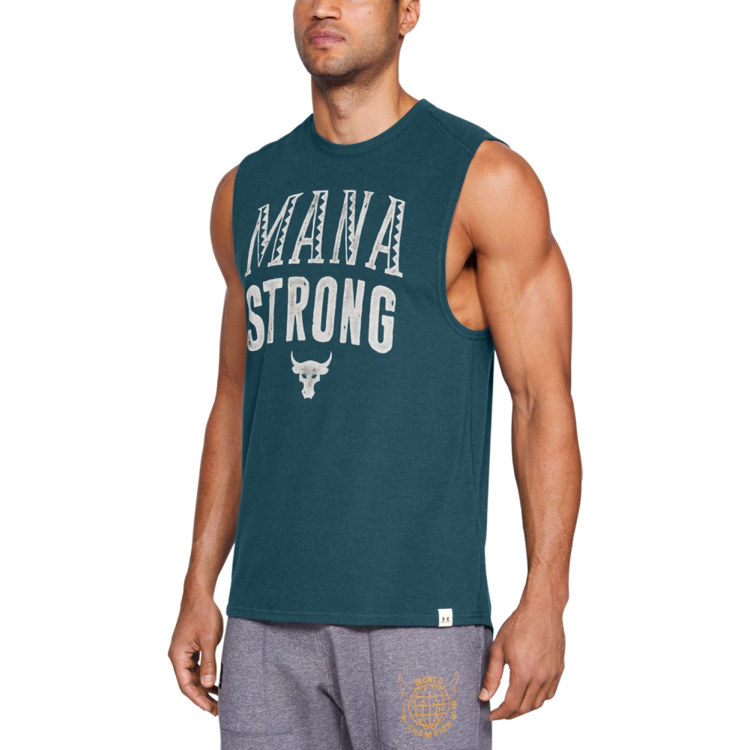 Under Armour project rock mana strong sl-nvy Verde Camisetas y Polos Deportivos