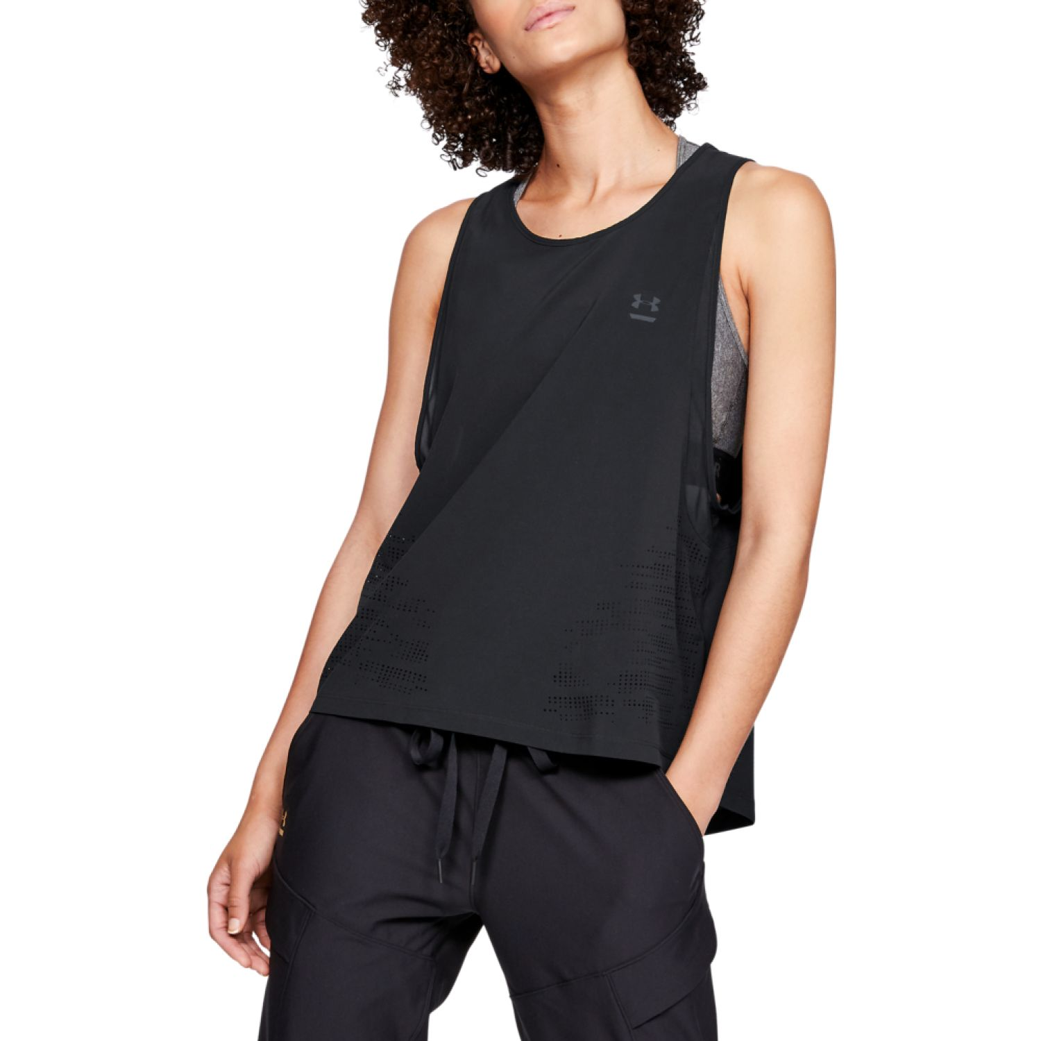 Under Armour perpetual woven tank-blk Negro Tank Tops