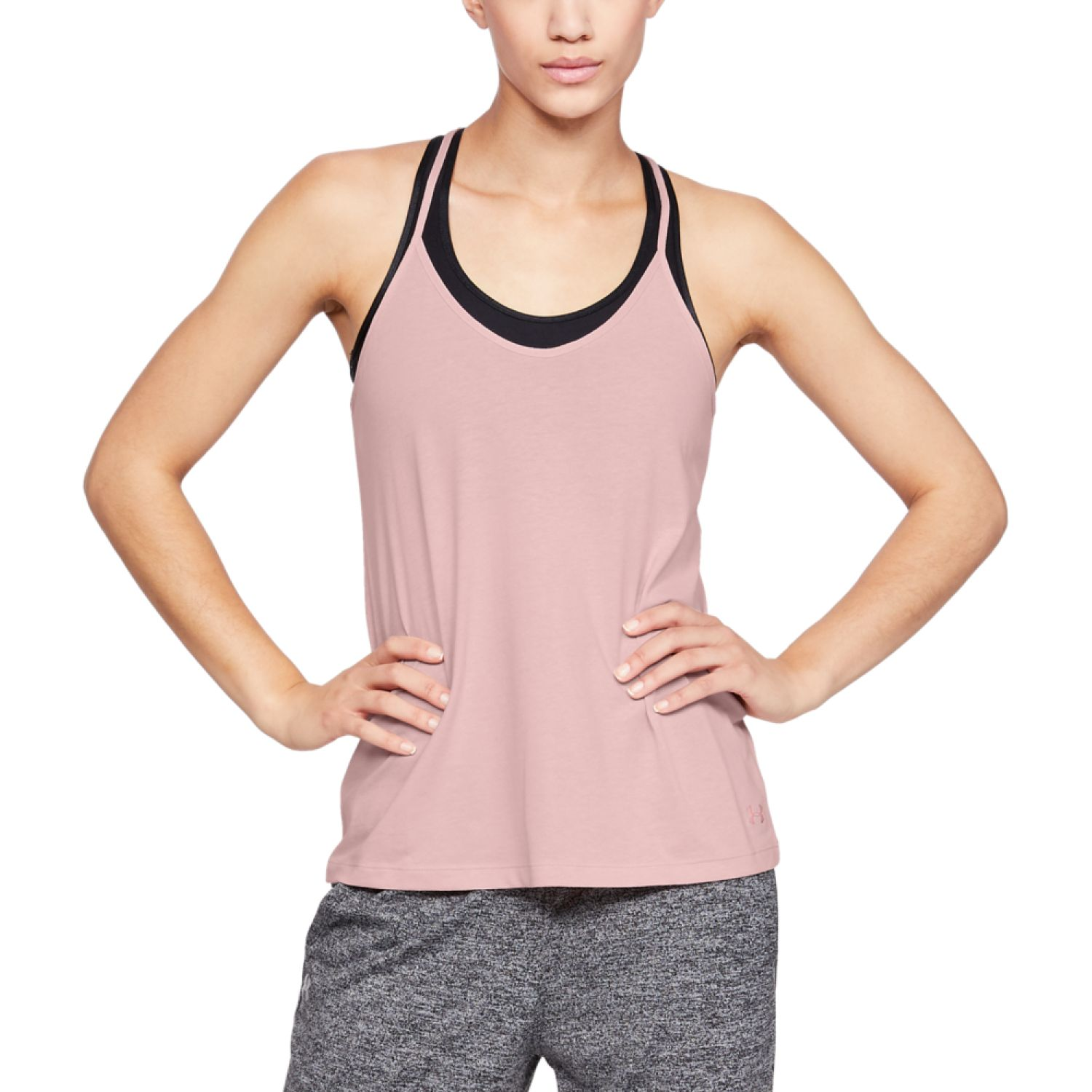 Under Armour solid fashion tank-pnk Rosado Tank Tops