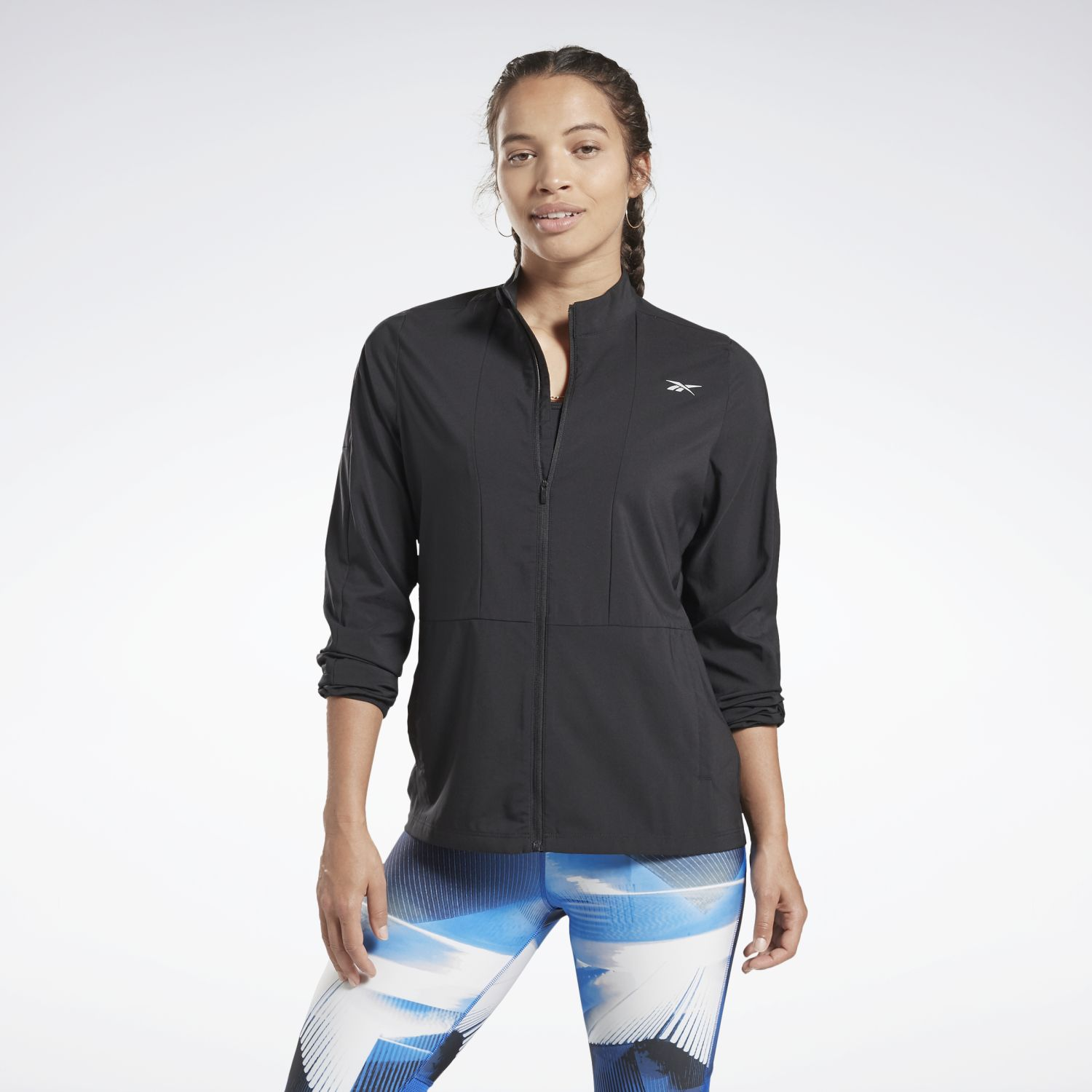 Reebok RE WIND JACKET Negro Casacas de Atletismo