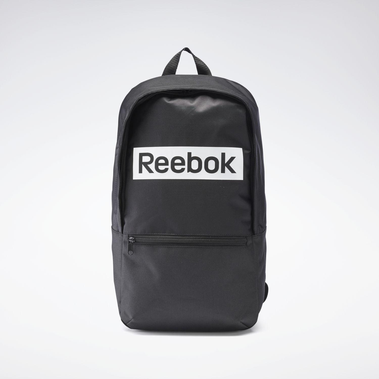 Reebok linear logo bp Negro / blanco Mochilas Multipropósitos