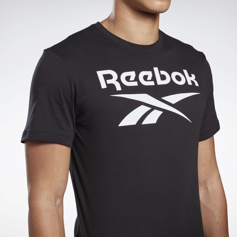 Reebok Gs Reebok Stacked Tee Negro / blanco Camisetas y Polos Deportivos