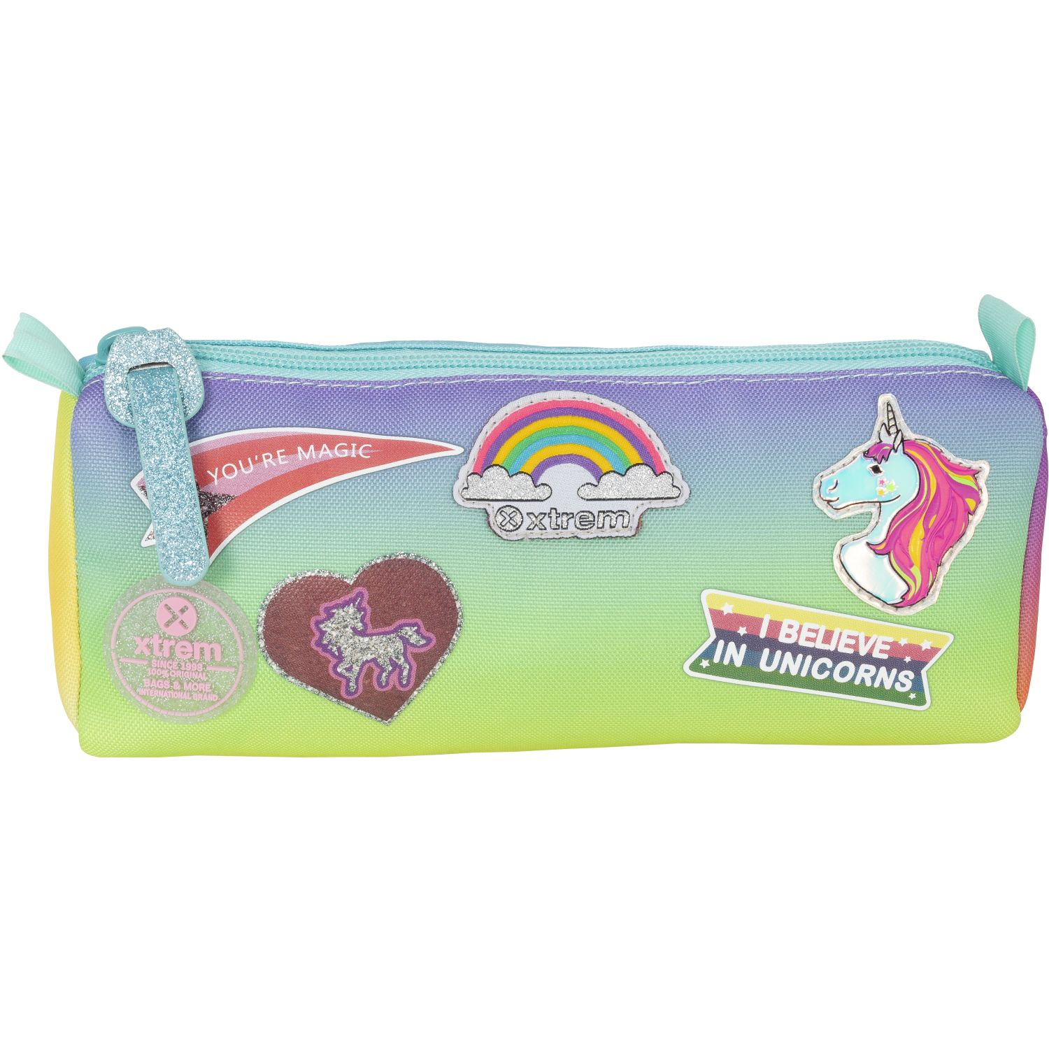Xtrem Pencil Box Rainbow Patches Crush 907 Varios portalápices