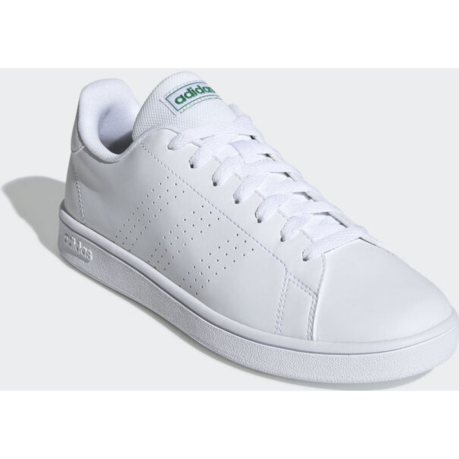 Adidas advantage base Blanco / verde Walking