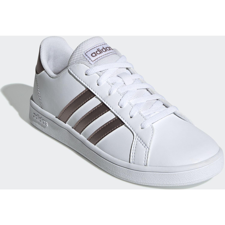 Adidas grand court k Blanco / dorado Chicas
