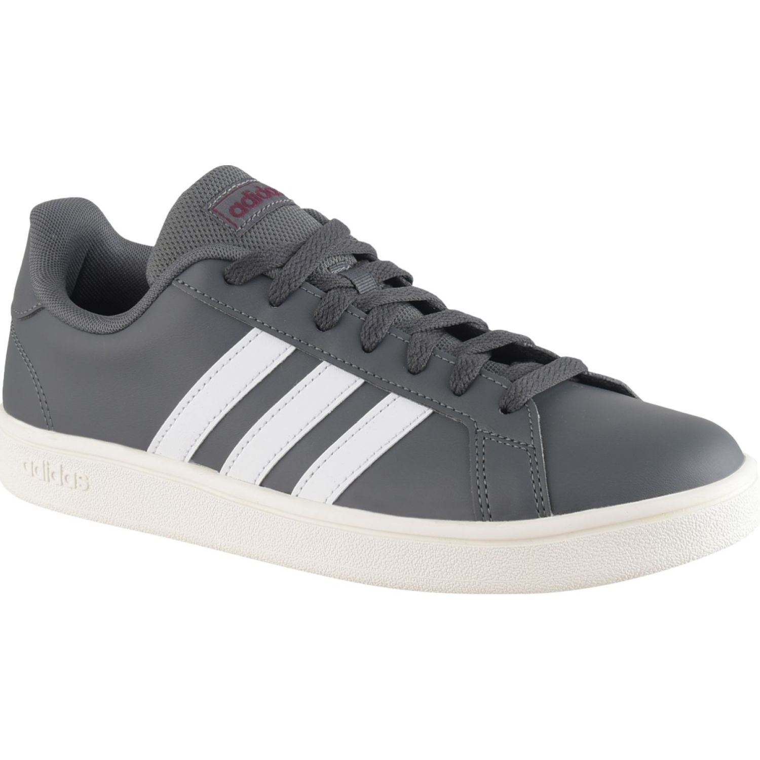 Adidas Grand Court Base Gris / blanco Tennisy deportes con raqueta