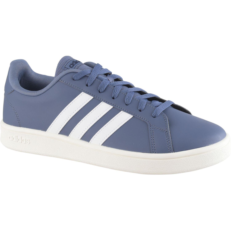 Adidas Grand Court Base Azul / blanco Tennis & Deportes con Raqueta