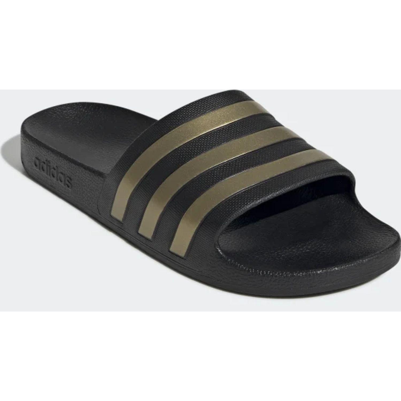 Adidas adilette aqua Negro / dorado Sandalias deportivas y slides