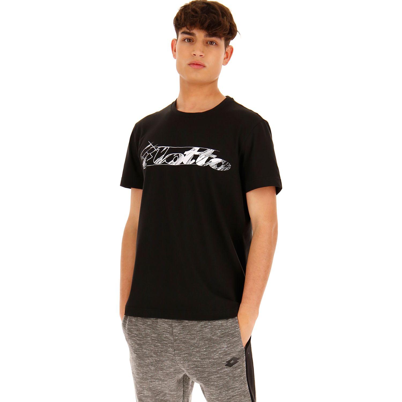 Lotto Prisma Tee Js Negro Camisetas y polos deportivos